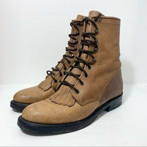BOULET   Lace Up Boots